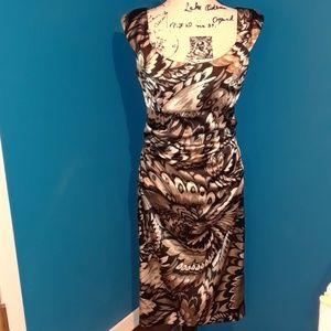 London Times Black\Gold\Grey Satiny Cocktail Dress
